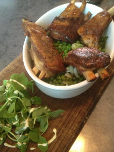 Watercress and confit duck...